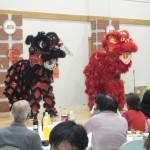 春節祝賀会獅子舞